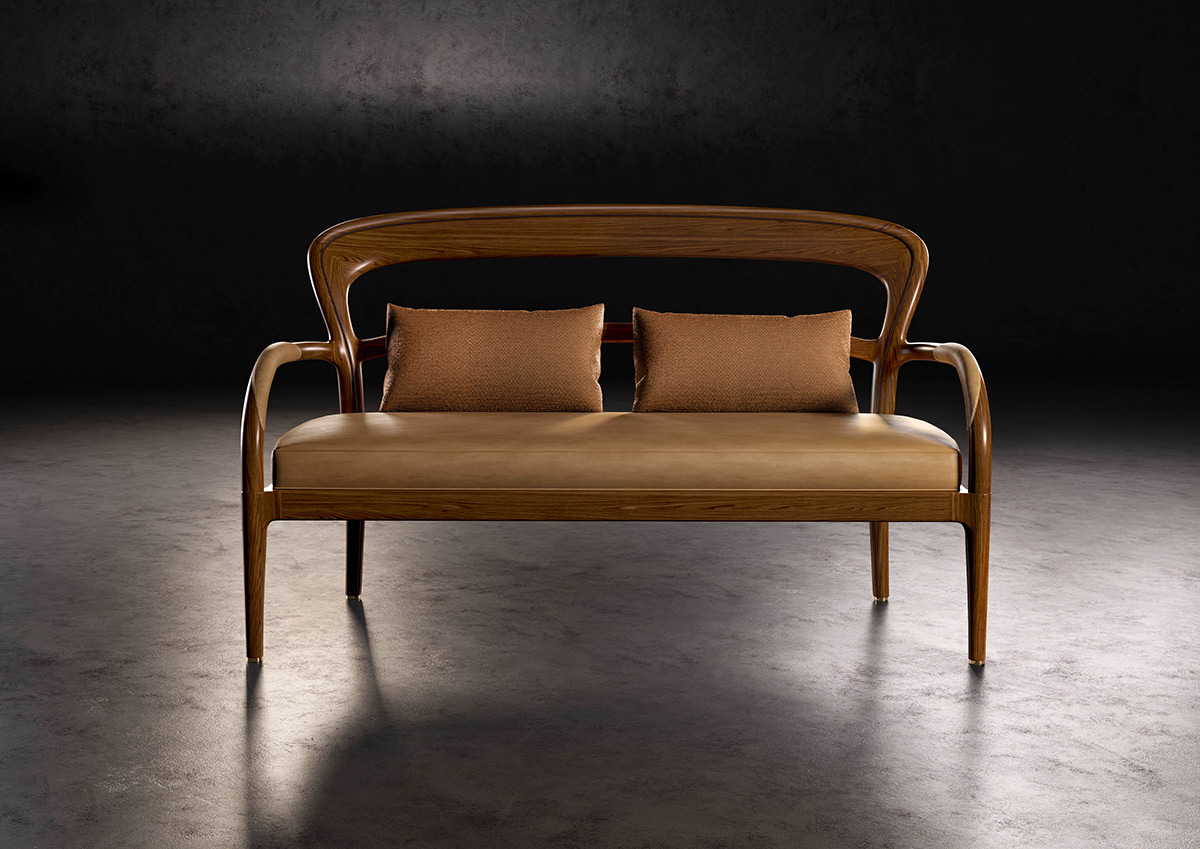 L'Agrifoglio small sofa and armchair
